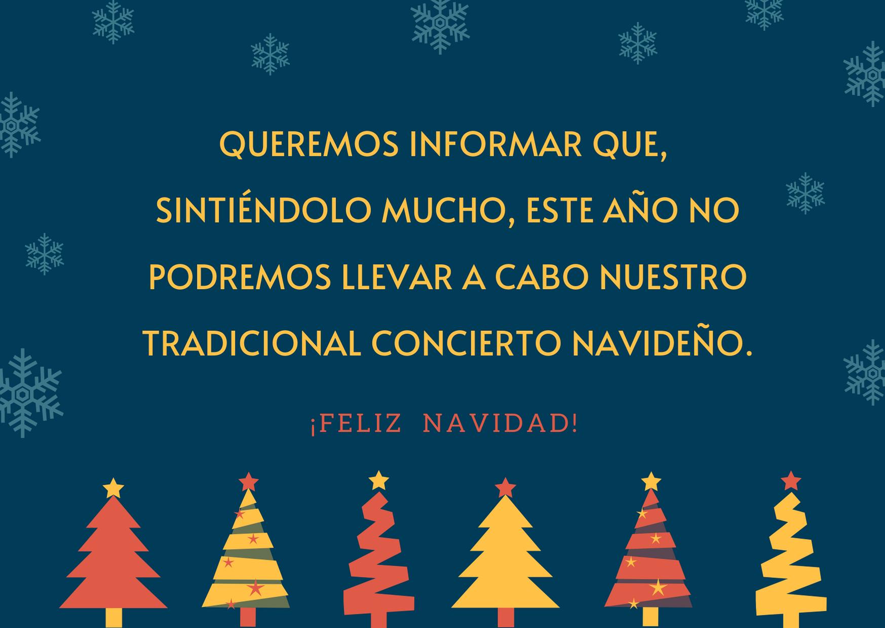 no concierto navidad