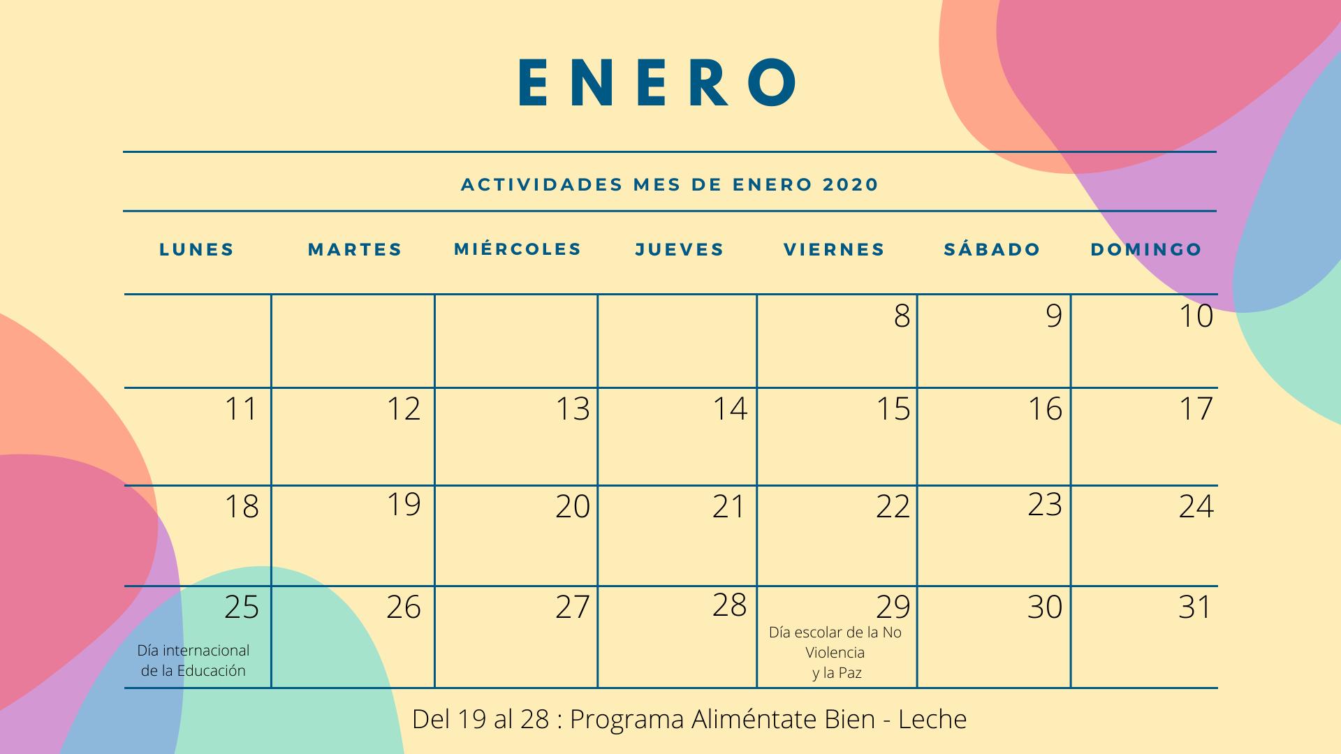 Colorful Quote Calendar