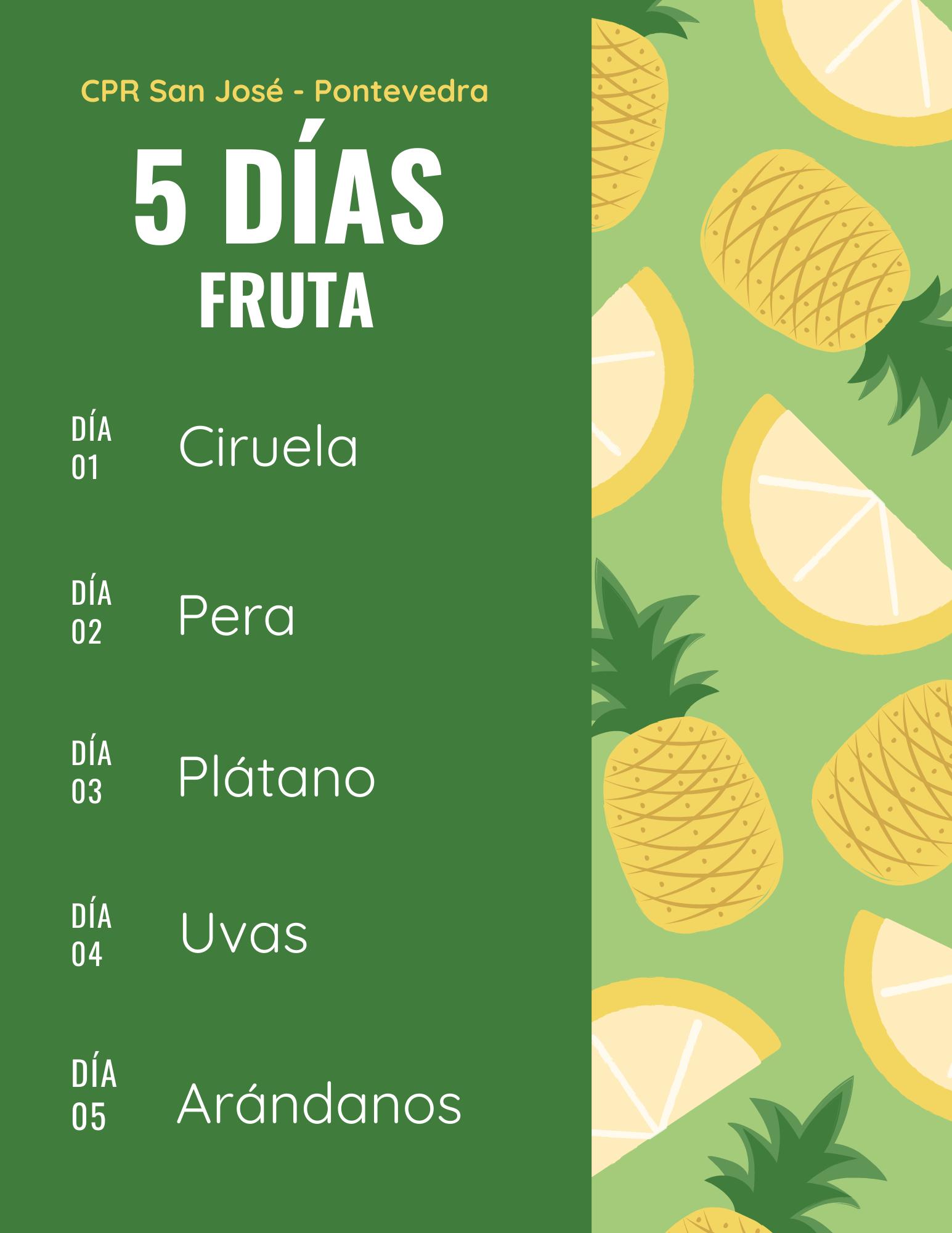 Tercera semana de la fruta