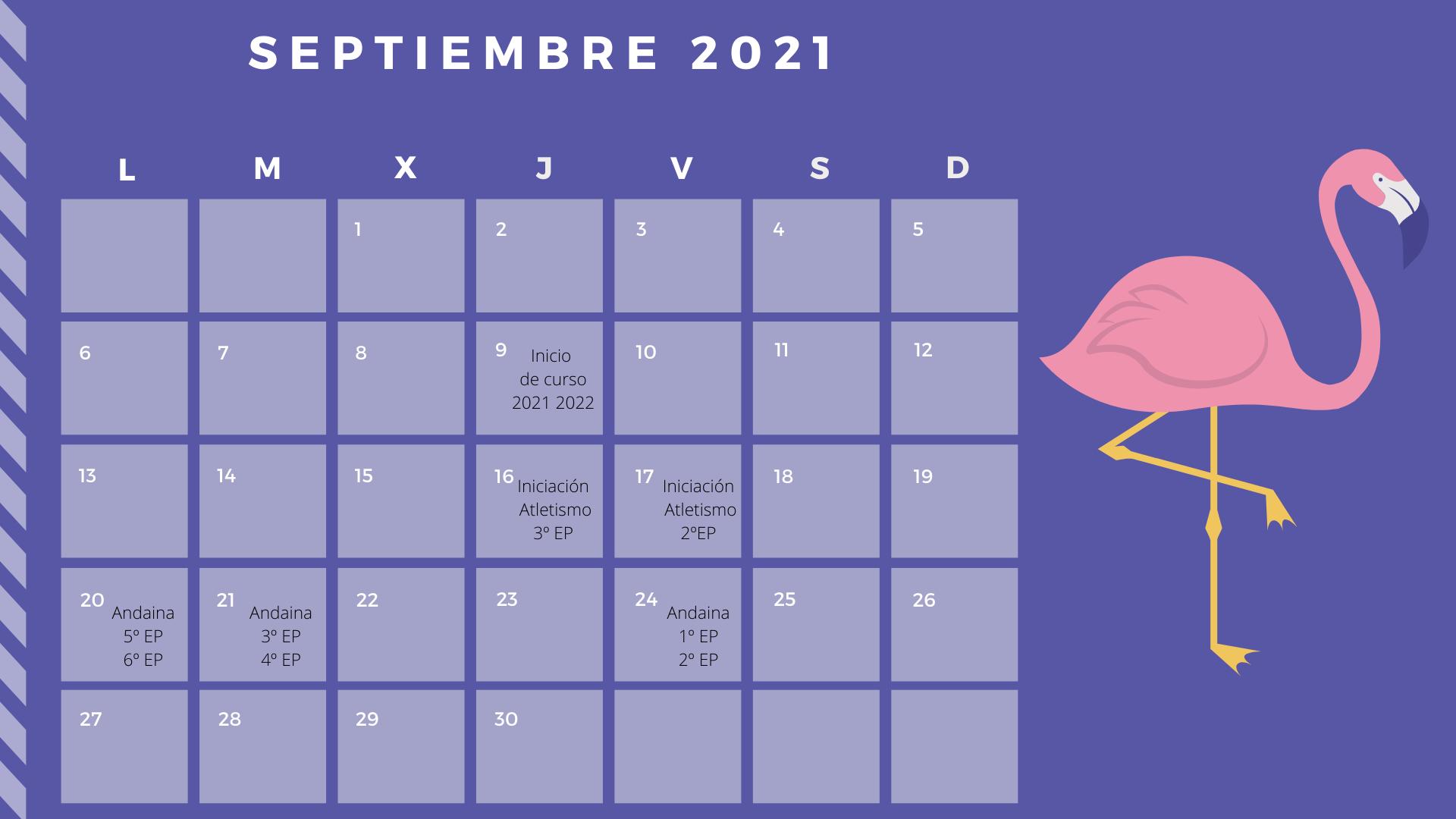 actividades septiembre